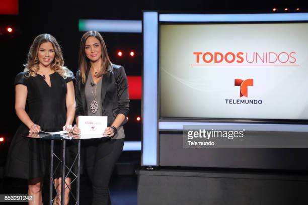 UNIDOS Telemundo's Primetime Special from Cisneros Studio in Miami FL Pictured Ximena Duque and Erika Csiszer on Sunday September 24 2017