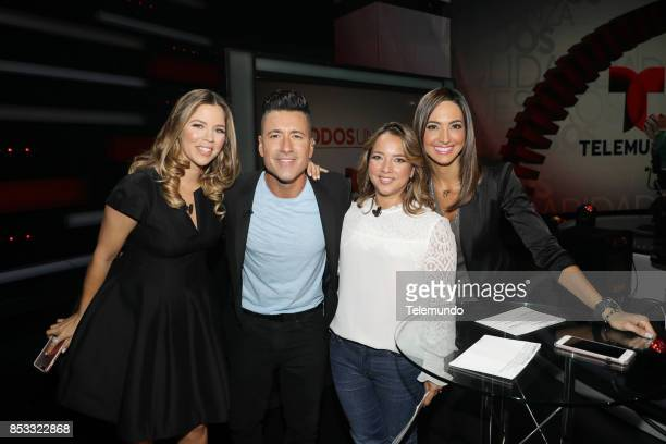 UNIDOS Telemundo's Primetime Special from Cisneros Studio in Miami FL Pictured Ximena Duque Jorge Bernal Adamari Lopez and Erika Csiszer on Sunday...
