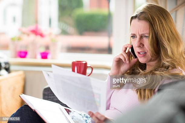 telephone bill query - complaining stock pictures, royalty-free photos & images