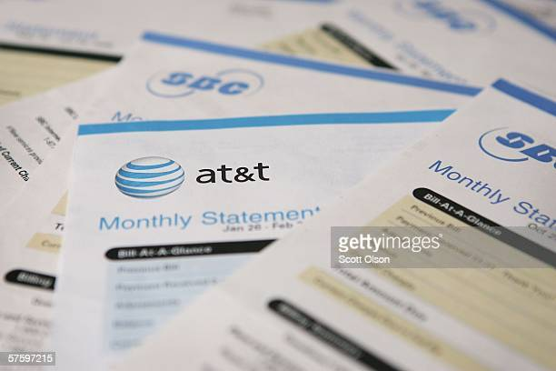 Telephone bills which contain information for an ATT customer lie in a pile May 12 2006 in Chicago Illinois The US National Security Agency began...