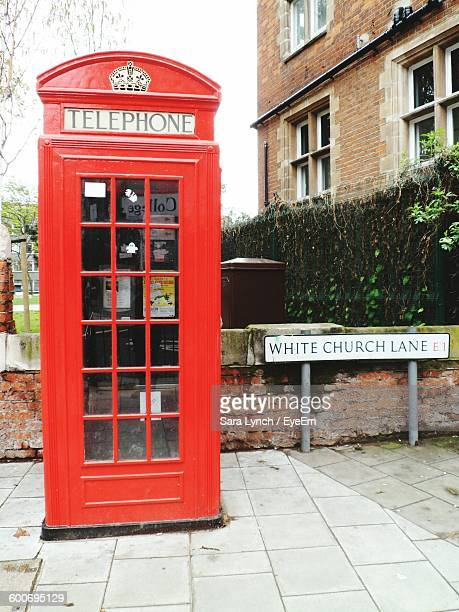 Telephone Booth By Footpath