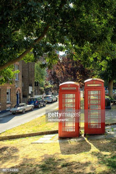 a telephone booths in north london - jaguar e type stock photos and pictures