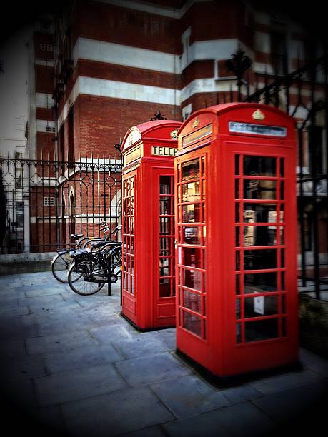 Telephone Booths In Street