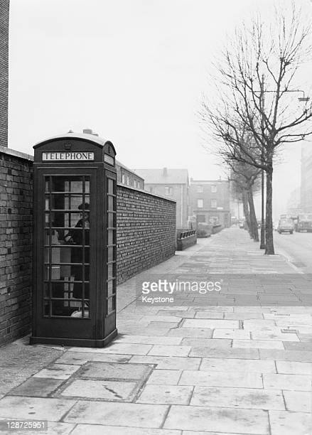 A telephone box in Great Dover St Newington South London where 47245 pounds of stolen money from the 26 million pound Great Train Robbery was found...