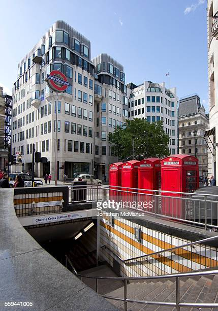 Telephone boxes at Charing Cross London