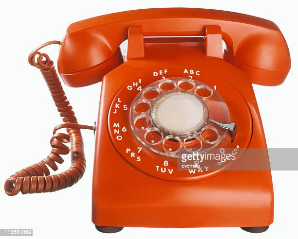 telephone cut out on white