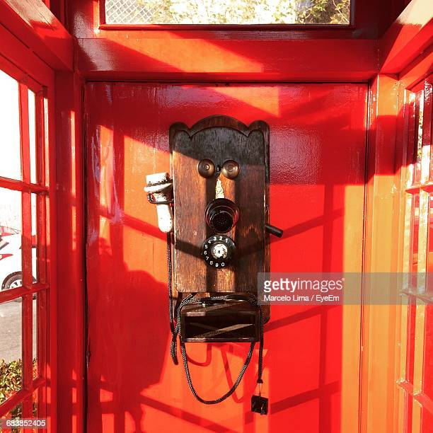 Telephone In Telephone Booth