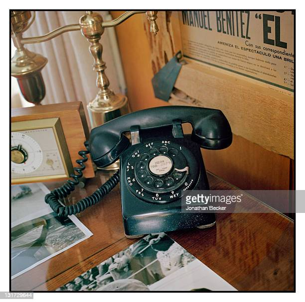Telephone is photographed inside writer Ernest Hemingway's home for Town & Country Magazine on June 30, 2011 in Ketchum, Idaho. The property is owned...