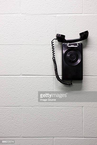 Telephone on wall