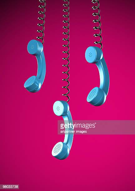 3 Telephone or Phone Reciever hanging