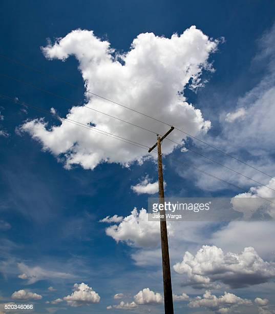 Telephone Pole and Cloud