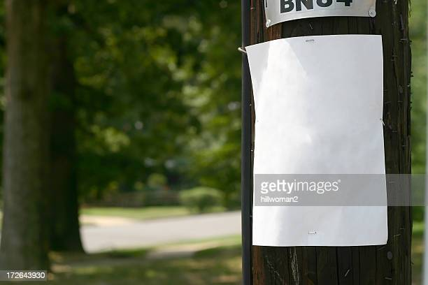 Telephone Pole Sign
