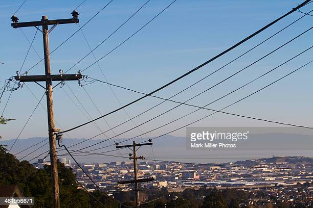 telephone wires san bruno california usa - san bruno stock pictures, royalty-free photos & images
