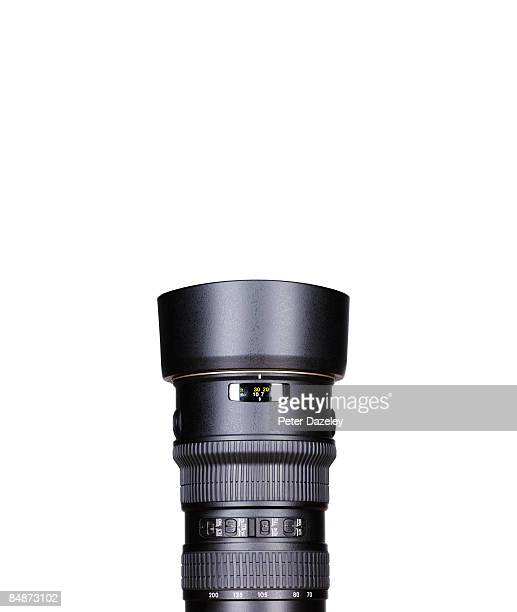 Telephoto lens with copy space.