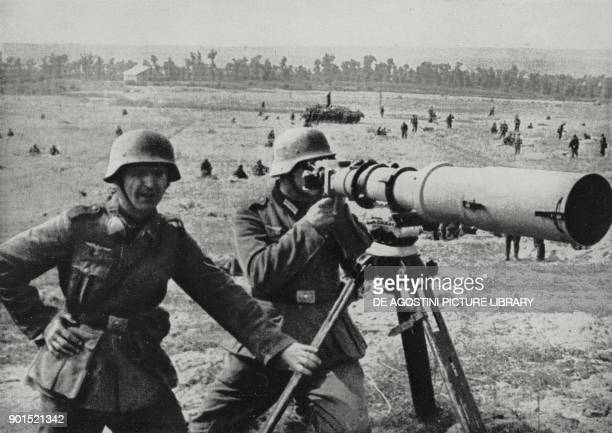 Telephotography to support German artillery Eastern Front World War II from L'Illustrazione Italiana Year LXVIII No 34 August 24 1941