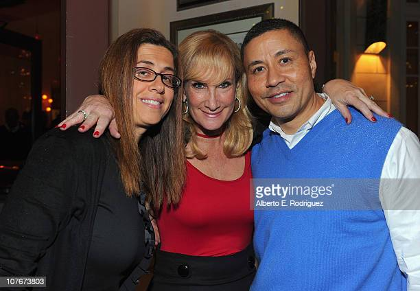 Telepictures President Hilary Estey McLoughlin Extra Sr Executive Producer Lisa GregorischDempsey and KNBC General Manager Craig Robinson attend the...
