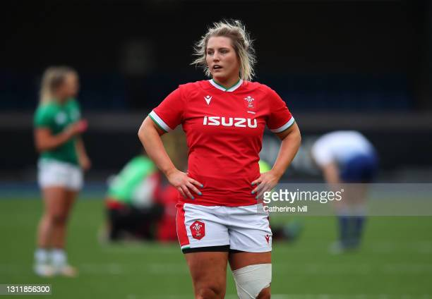 Teleri Wyn Davies of Wales during the Women's Six Nations match between Wales and Ireland at Cardiff Arms Park on April 10, 2021 in Cardiff, Wales....
