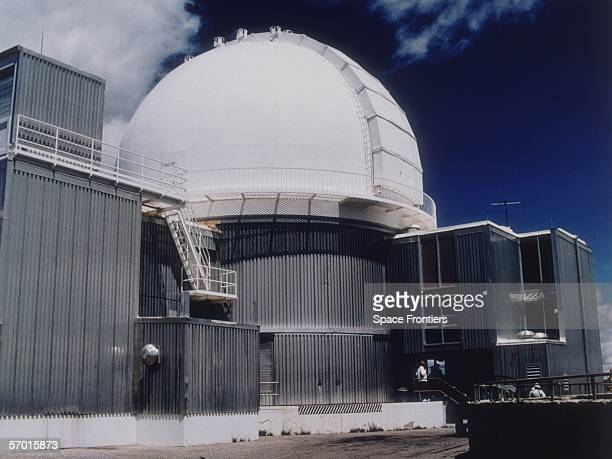 A telescope at the Kitt Peak National Observatory in Arizona circa 1990