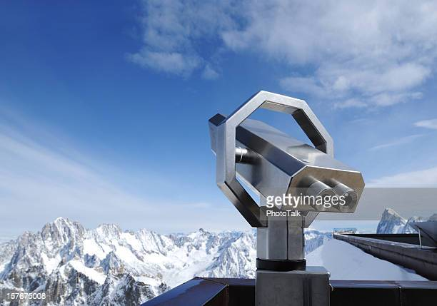 Telescope On Alps Snow Mountain Viewing Platform - XLarge