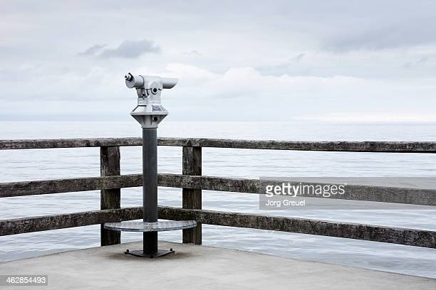 Telescope on pier,  Island of Usedom, Germany
