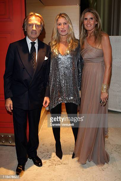 Telethon president Luca Cordero di Montezemolo his wife Ludovica Andreoni and Tiziana Rocca attend the Charity Gala Telethon during Day 8 of the 4th...