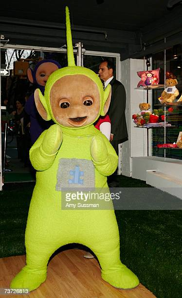 Teletubbie Dipsy attends the Teletubbies Take Manhattan opening night party at the Pop Up Shop on March 27 2007 in New York City