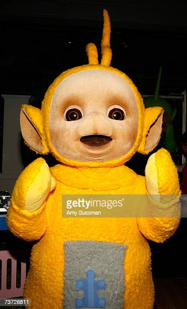 Teletubbie LaaLaa attends the Teletubbies Take Manhattan opening night party at the Pop Up Shop on March 27 2007 in New York City