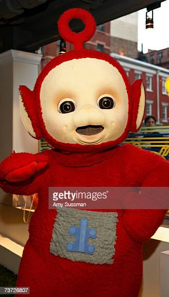 Teletubbie Po attends the Teletubbies Take Manhattan opening night party at the PopUp Shop on March 27 2007 in New York City