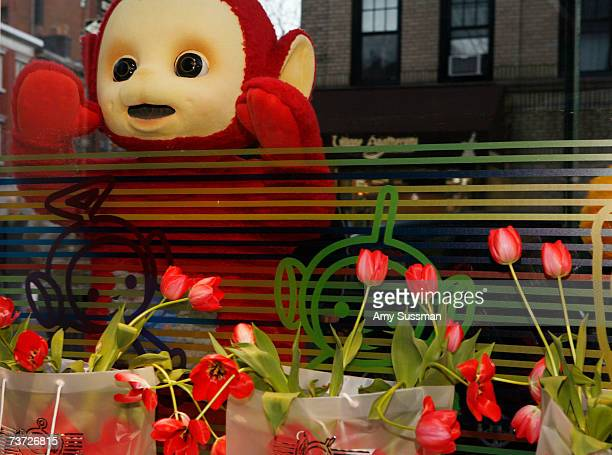 Teletubbie Po attends the Teletubbies Take Manhattan opening night party at the Pop Up Shop on March 27 2007 in New York City