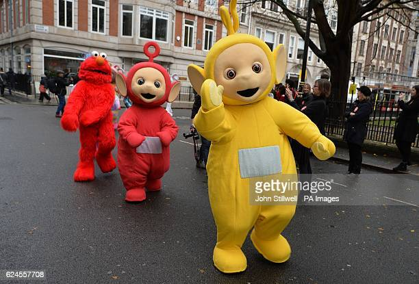 'Teletubbies' prepare to begin the second annual Hamleys Christmas Toy Parade on Regent Street central London