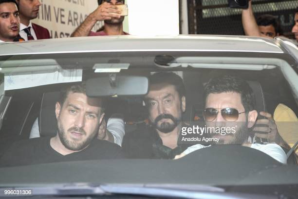 Televangelist Adnan Oktar is brought to the Police Department following his arrest for alleged membership of a criminal organization after an...