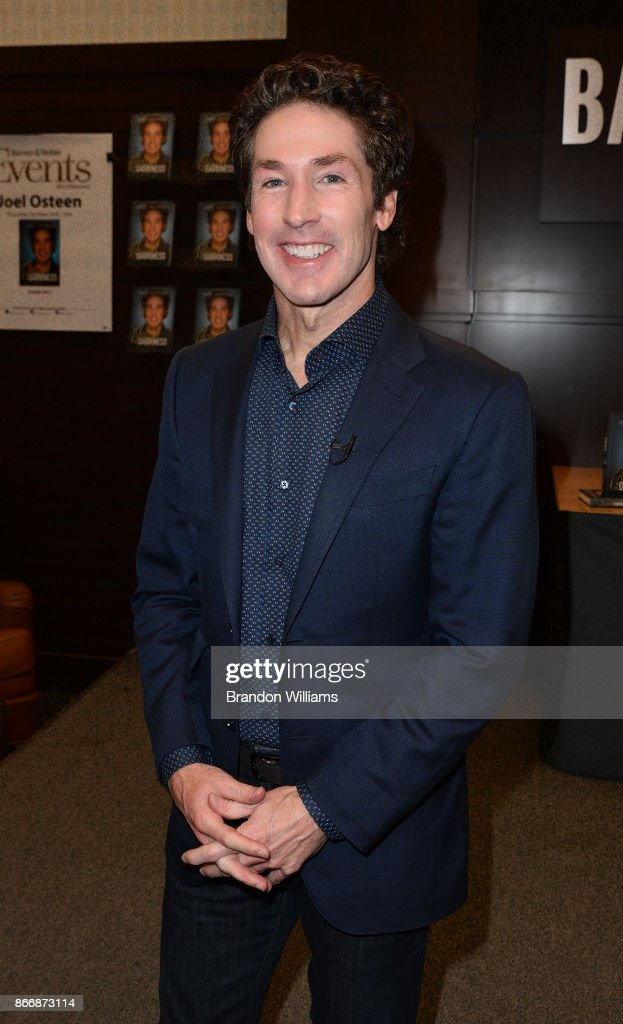 Televangelist Joel Osteen attends at the book signing for his book 'Blessed in the Darkness' at Barnes & Noble at The Grove on October 26, 2017 in Los Angeles, California.
