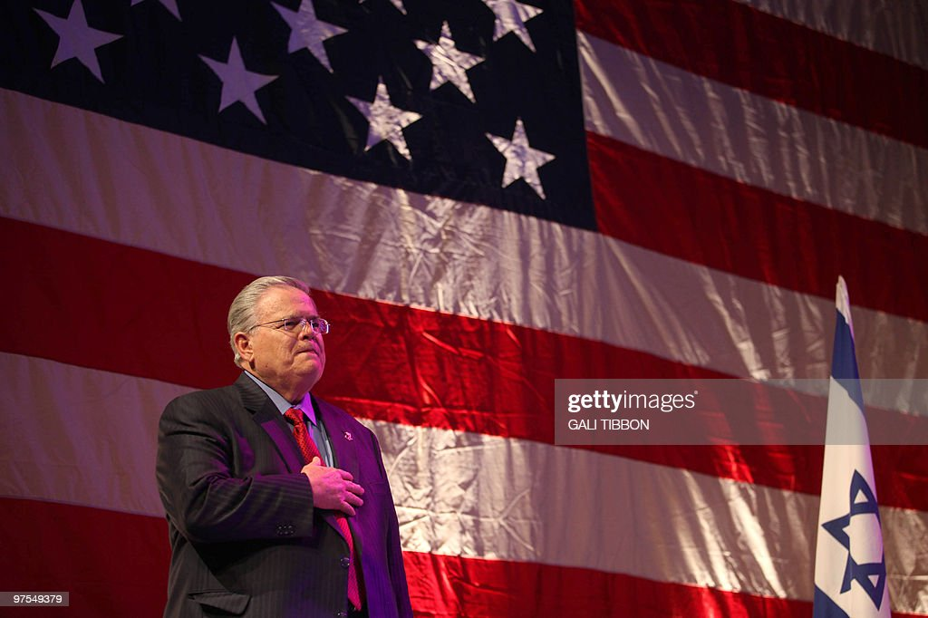 US televenangelical pastor John Hagee at : News Photo