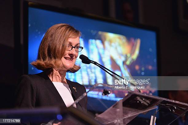Television Academy President & COO Lucy Hood at the Academy of Television's 65th Primetime Emmy Governors Ball Press Sneek Peak at Leonard H....
