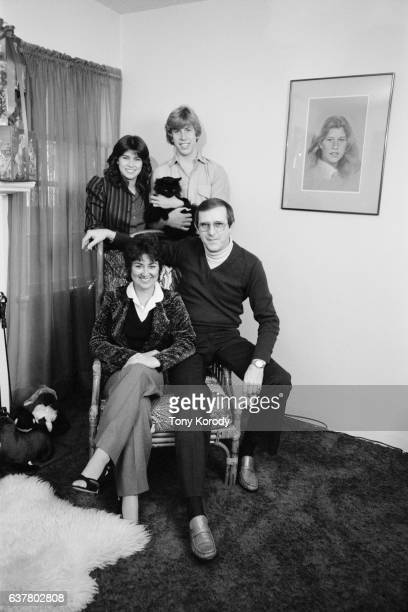 Television actors and real-life siblings Nancy and Philip McKeon with their parents.
