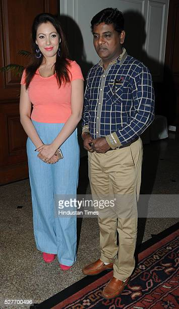 Television actors Munmun Dutta and Tanuj Mahashabde during the promotion of their show Taarak Mehta Ka Ooltah Chashmah on May 3 2016 in Bhopal India
