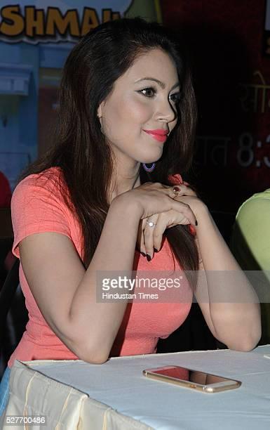 Television actress Munmun Dutta addressing a press conference regarding her show Taarak Mehta Ka Ooltah Chashmah on May 3 2016 in Bhopal India