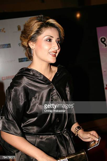 """Television Actress Urvashi Dholakia arrives for the """"The Global Indian TV Honours"""" held at Andheri Sports Complex February 01, 2008 in Mumbai, India."""