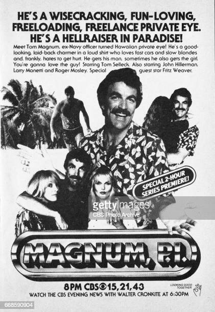 Television advertisement as appeared in the December 6 1980 issue of TV Guide magazine An ad for the Thursday primetime drama Magnum PI starring Tom...