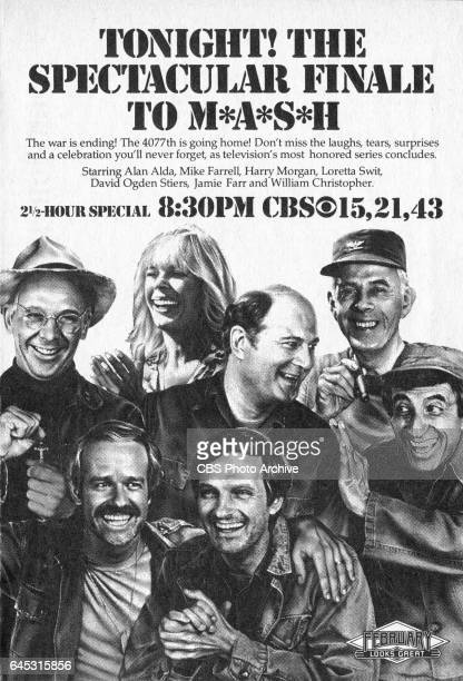 Television advertisement as appeared in the February 26 1983 issue of TV Guide magazine An ad for the final episode of M*A*S*H which broadcast on...