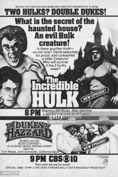 Television advertisement as appeared in the February 28 1981 issue of TV Guide magazine An ad for the Friday night adventure programs The Incredible...