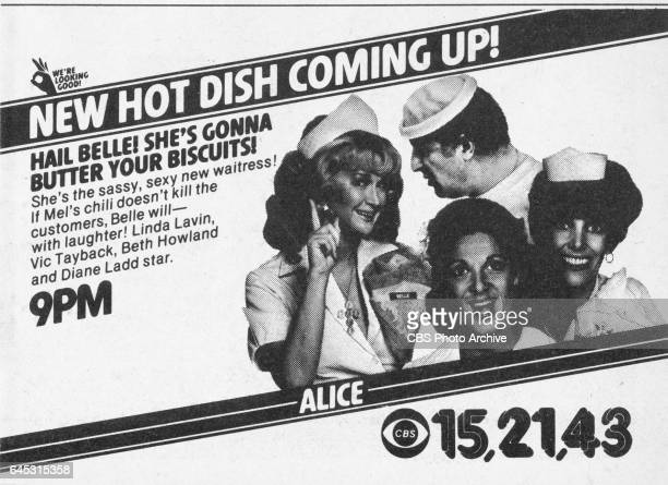 Television advertisement as appeared in the March 1 1980 issue of TV Guide magazine An ad for the Sunday primetime comedy program Alice introducing...