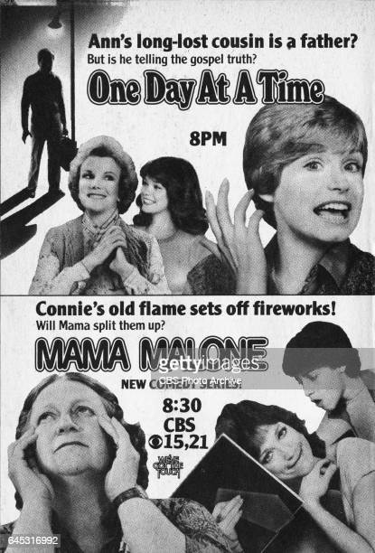 Television advertisement as appeared in the March 17 1984 issue of TV Guide magazine An ad for the Wednesday primetime comedies One Day At A Time and...