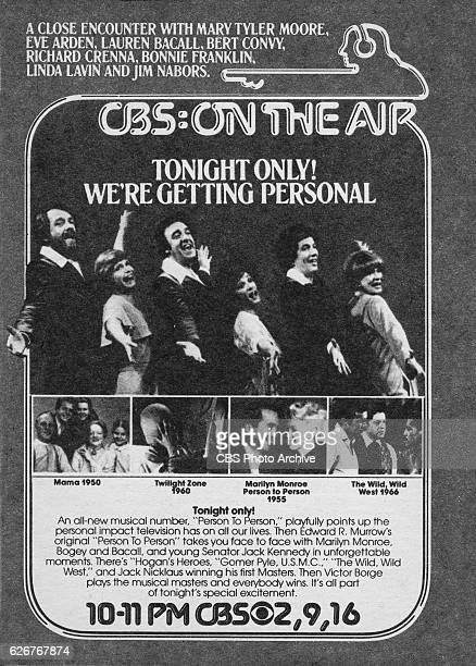 Television advertisement as appeared in the March 25 1978 issue of TV Guide magazine A celebration of the 50th anniversary of CBS's history in radio...
