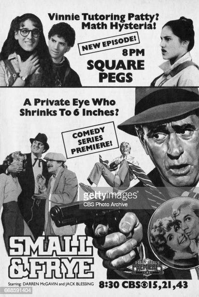 Television advertisement as appeared in the March 5 1983 issue of TV Guide magazine An ad for a Monday primetime series 'Square Pegs' starring Sarah...