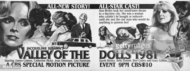 Television advertisement as appeared in the October 17 1981 issue of TV Guide magazine An ad for the madeforTV movie Jacqueline Susann's Valley of...