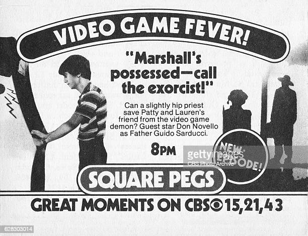 Television advertisement as appeared in the October 9 1982 issue of TV Guide magazine An ad for the Monday primetime situation comedy Square Pegs The...
