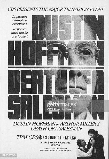 Television advertisement as appeared in the September 14 1985 issue of TV Guide magazine An ad for the Sunday night presentation of Arthur Millers...