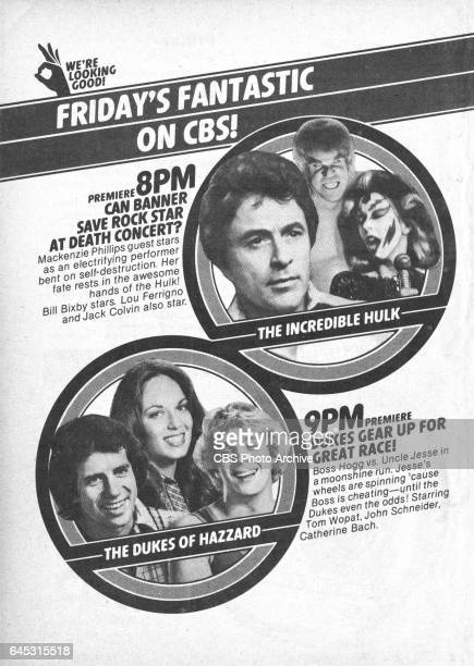 Television advertisement as appeared in the September 15 1979 issue of TV Guide magazine An ad for the Friday primetime adventure series The...