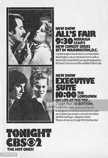 Television advertisement as appeared in the September 18 1976 issue of TV Guide magazine An ad for the programs the situation comedy Alls Fair and...